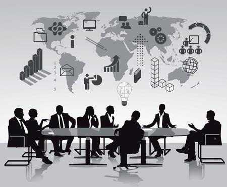 brainstorming discussion  イラスト・ベクター素材