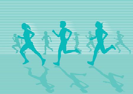 woman walk: running track