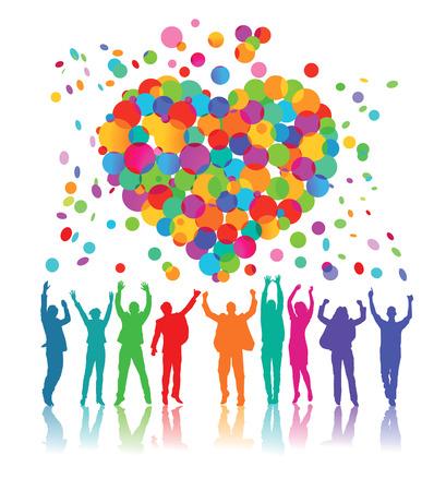 great success: Congratulations Party Illustration