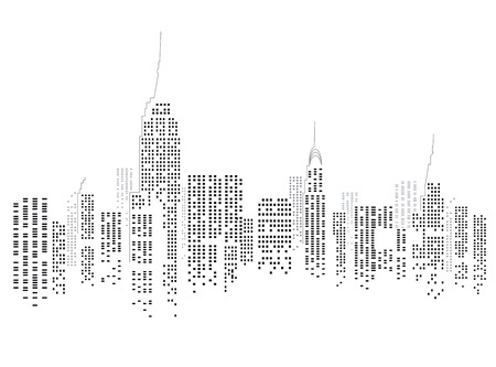 new york city panorama: New York City Illustration