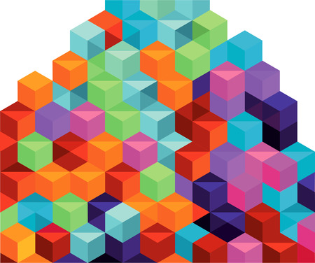 enlightment: colorful stacks of boxes Illustration