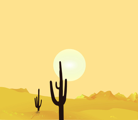 sonoran: Desert Landscape Illustration