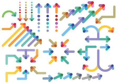 flechas: flechas direcciones Vectores