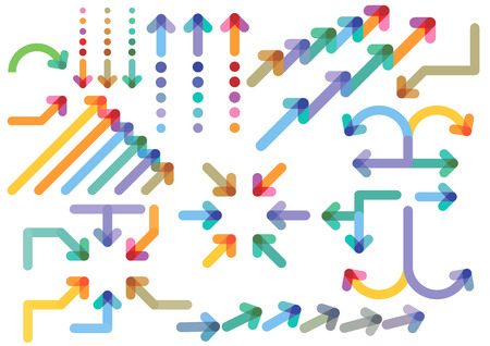 directions: pijlen richtingen Stock Illustratie