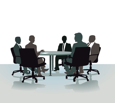 one on one meeting: Talking on the round table