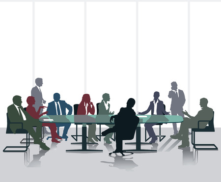 Meeting and discussion Illustration