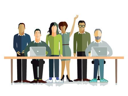 Working environment Illustration