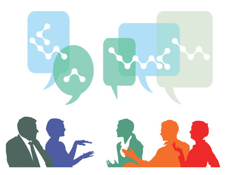 people discuss: People discuss and exchange ideas
