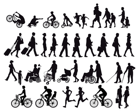 People on the move and Activities Illustration