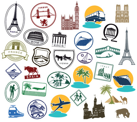 Europe Stickers and Stamps