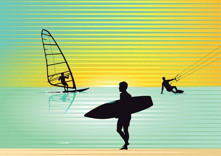 nice accommodations: Surf Illustration