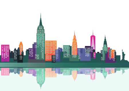 reflection of life: colorful New York