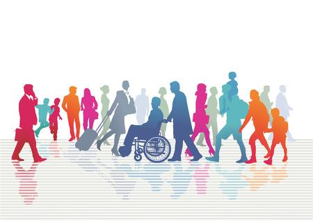 bewegung menschen: Leute auf der Straße