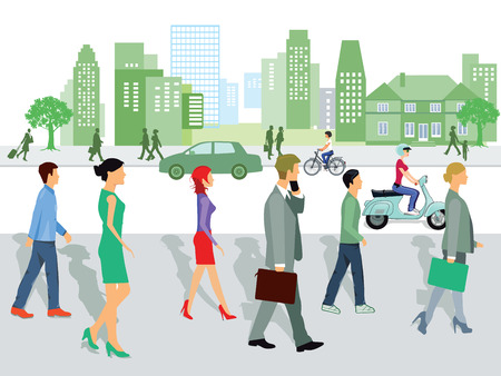 conversational: Cityscape Illustration