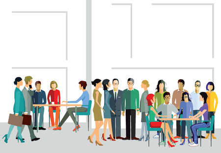 one on one meeting: Working groups Illustration