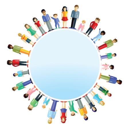 Les parents et les enfants dans le monde Banque d'images - 40041064