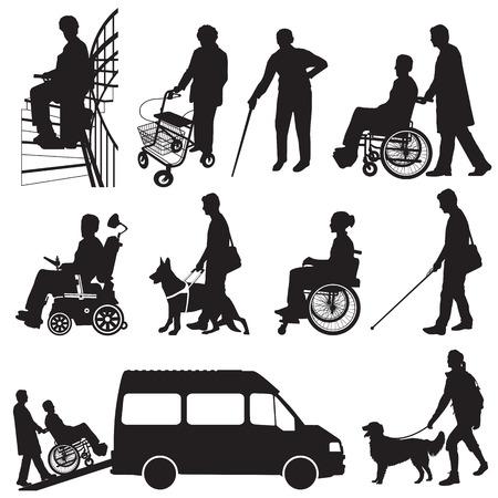 Behinderte Illustration