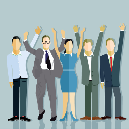 work task: Successful companies Illustration