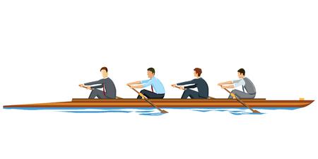 coordination: Rowing Businessmen
