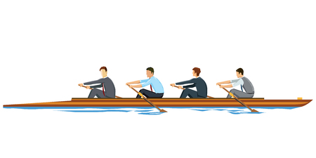 Rowing Businessmen
