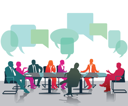 discussion: Opinions and discussions Illustration