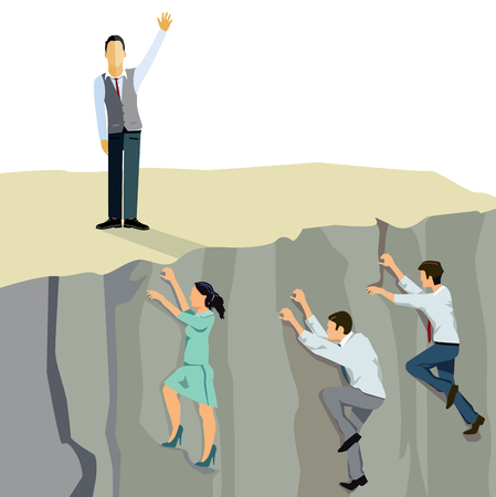 climb: Business ascent upwards climb Illustration