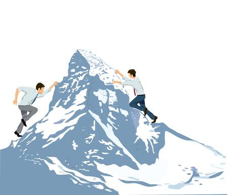 Business Climbing Summit Rise Illustration