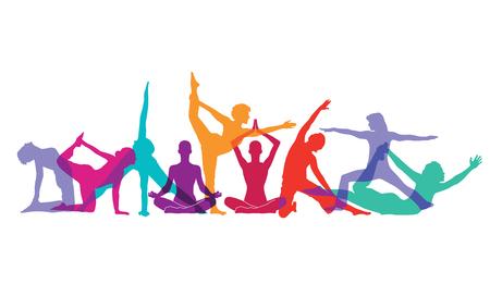 Yoga and gymnastics poses