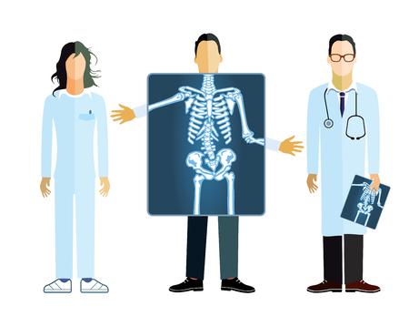 roentgen: X-ray medical photographer Illustration