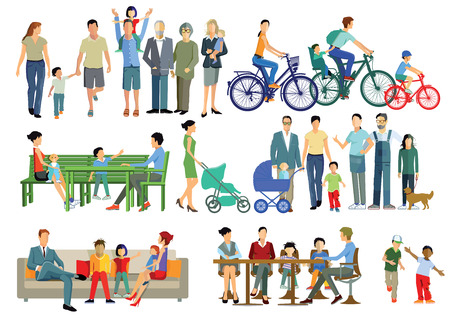parents and children: Parents, children, families