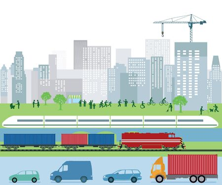 city traffic: Traffic and transport in the city