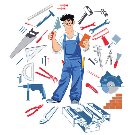 practically: Handy man with tools