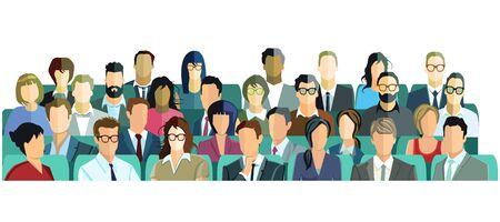 Audience, listeners, viewers