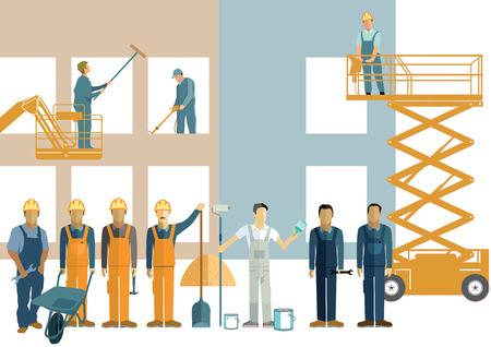 construction management: Construction craftsmen