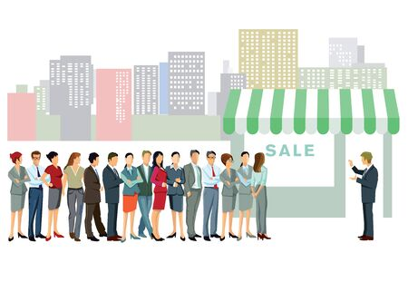 commercially: People want shopping Illustration