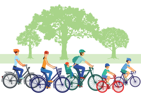 biking: Cycling with children and family