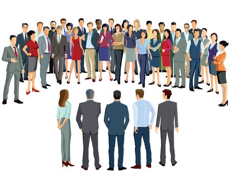 participants: Business meeting participants Illustration