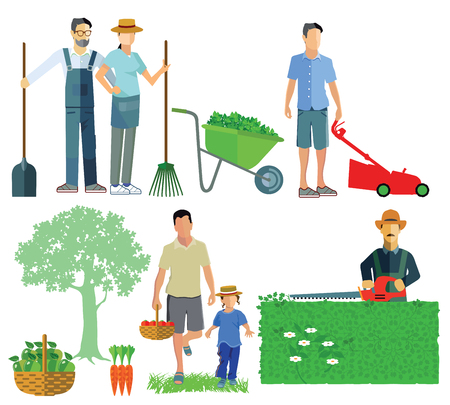 lawn mowing: gardening