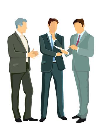 resident: a group of businessmen Illustration