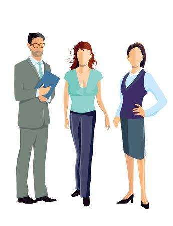 associates: three employee standing together