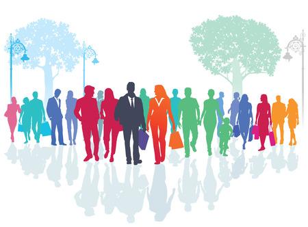 sociable: city ??stroll Illustration