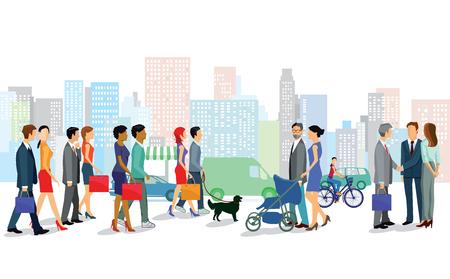 sociable: Shopping in the city Illustration