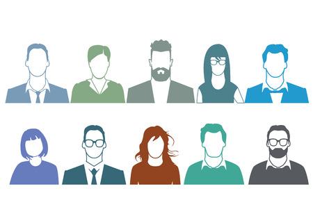 People Portrait Vectores