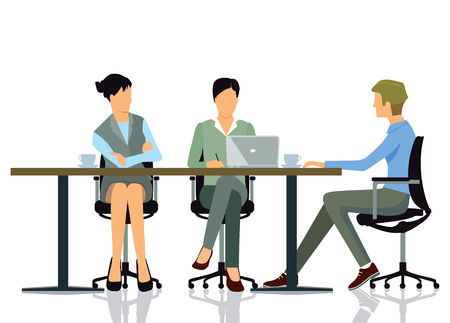 hangout: Meeting at the office Illustration
