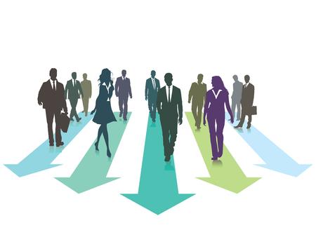 one team: Forward direction Illustration
