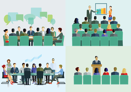 brainstorming: Course, Lecture, Seminar, Meeting, Presentation Illustration