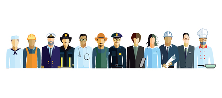 professions Stock Illustratie