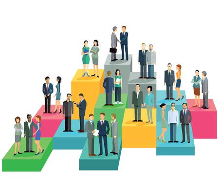 company job: Group balance sheet Illustration