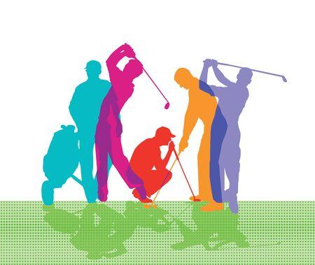 golf swing: Golf game Illustration