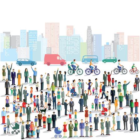 personas en la calle: La gente grupo comunitario, el tráfico